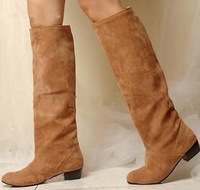 Free shipping knee boots women fashion snow winter footwear wedge shoes sexy warm half boot P7520 EUR size 34-43