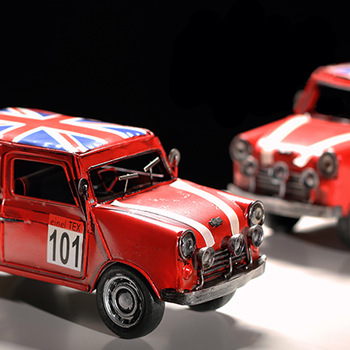 Mini metal car model of the national flag version of metal car models fashion decoration gift