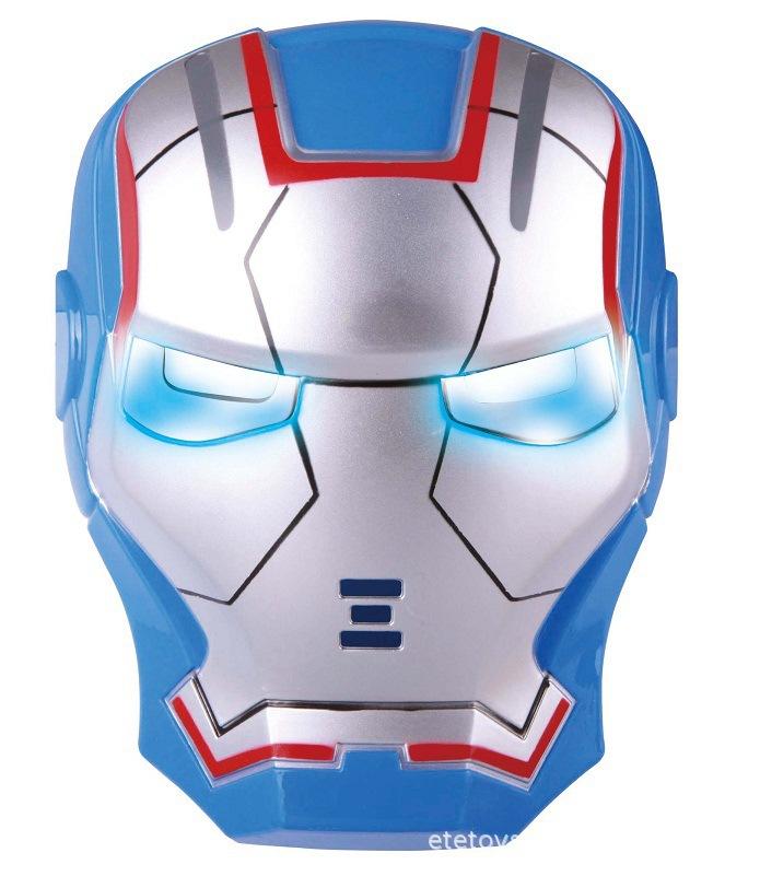 free shipping,(10pcs/lot)Iron Man Mask 1 2 Movie Costume Hero Toys Lite-up Eyes blue(China (Mainland))