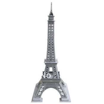 New Arrived Child D.I.Y Toy Easy To Assemble World's Great Architecture Building Colorful Print Eiffel Tower Paper 3D Puzzle Toy