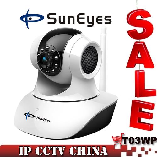 SunEyes SP-T03WP IP Network Camera Wifi TF/SD Memory Card Slot Wireless Pan/Tilt Two Way Audio New 2013 Brand Camera SP-T03WP(China (Mainland))
