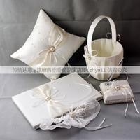 Wedding supplies prestendance book attendance book sign pen flower basket ring pillow