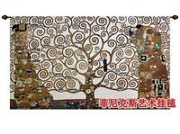 World famous paintings tree of life Gustav Klimt's works tapestry wall hangings decoration textile extra big 238cm X 138cm