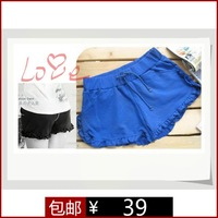 New arrival 2013 mm plus size clothing summer cool laciness elastic strap casual shorts k034