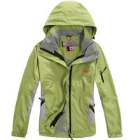 2013 New arrival woman winter jacket Outdoor sports coat ladies Waterproof breathable windproof 2in1 hoodies female autumn coat