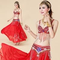 Bra cummerbund skirt 2 piece set belly dance set costume set beaded set