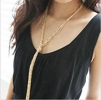 Min. order $9(mix order) All-match Multi-layer Tassel Long Necklace Vintage Design Necklace for Female