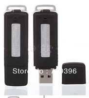 10pcs/lot,8GB USB Pen Flash Drive Digital Audio Voice Recorder +retial box ! 15 Hours Recording, Free shipping