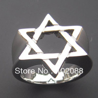 High polish finished Men's Stainless Steel Star Of David Ring USA size #6, 7,11,12 available