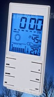 LCD Indoor Outdoor Digital Thermometer Hygrometer with Dual Sensors Large Screen