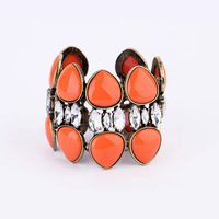 Supply 2013 the latest fashion orange acrylic stone crystal stone wide chain women street style Bracelet