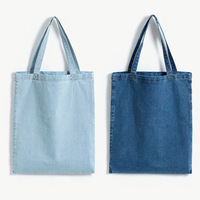free shipping Fashion normic water wash quality ultra soft comfortable light color denim shopping bag h