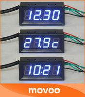 100 шт/много 0,4» привел цифровые трубки дисплей время группа метр автомобиль мотоцикл Электрический велосипед Цифровые Часы #090793