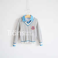 New arrival!2013 children sweater,100% cotton knitting wool,school style,casual V-Neck sweater,boy's,spring-autumn,free shipping