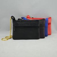 10.5 x 7 cm 100% genuine leather hardware golden chain small key wallet 2013 sheepskin coin purse card holder