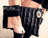 Fashion new arrival 2013 quilting plaid clutch vintage motorcycle women's handbag cross-body bag day clutch bag