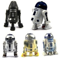 Lot 5 Star Wars R4-I9 R2-D2 Astromech Droid Action Figure 2001 2008 2010 SK88