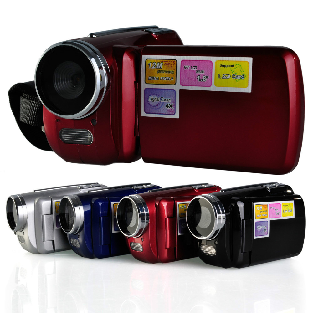 12MP 720P HD Digital Video Camera with 4 x Digital Zoom, 1.8 LCD Screen Mini DV Digital Camcorder, Free Shipping(China (Mainland))