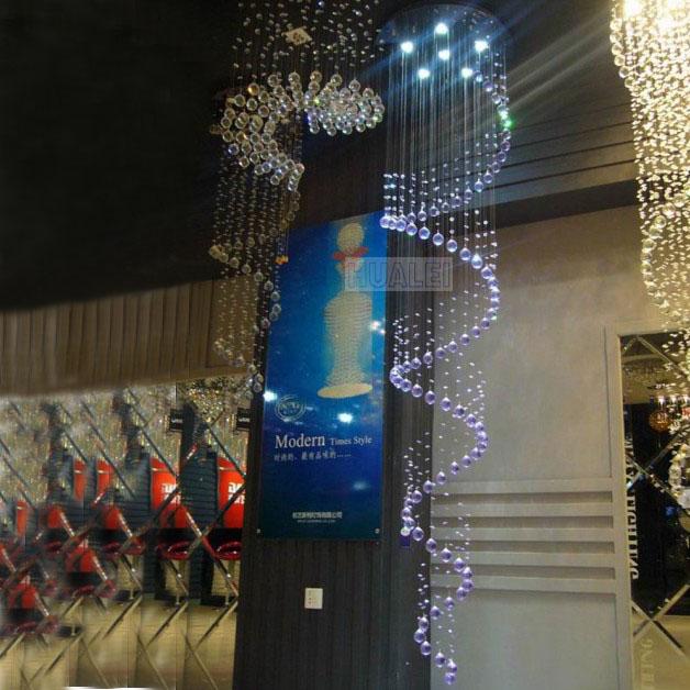nova chegada Breve pingente luminária de luz em espiral do tipo híbrido de cristal escada lâmpada escada luz projeto frete grátis(China (Mainland))