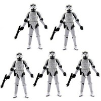 Lot 5 Star Wars 2005 CLONE TROOPER Revenge Of The Sith ROTS Figure 2005 SK95
