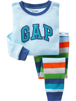 Free shipping 2013 children clothing sets Girls Pajamas/Boys Pajamas Set for Height 80cm to 130cm