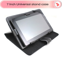 "Wholesales 3pcs/lot  PU Leather Case Cover for 7"" Tablet PC MID 7inch Tablet Stand Case for Tablet Multi-angle Viewing"