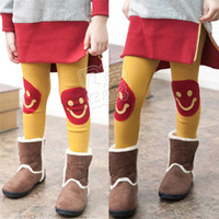 2012 winter smiley girls clothing baby thickening plus velvet trousers legging kz-1318