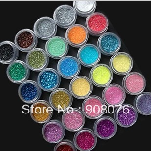 Best Selling!Top Quailty 30 Colors Nail Glitter Powder Dust Nails Art Set +Free Shipping