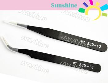 10set/Lot 20pcs Curved/Straight Anti-Magnetic Tweezer Stainless Steel Nail Art Rhinestone Nipper Wholesales 4385