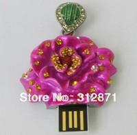 Free shipping 2GB 4GB 8GB 16GB 32GB 64GB Rosa rugosa USB Drive Disk, Hot Sales usb flash disk drive  logo usb flash drive