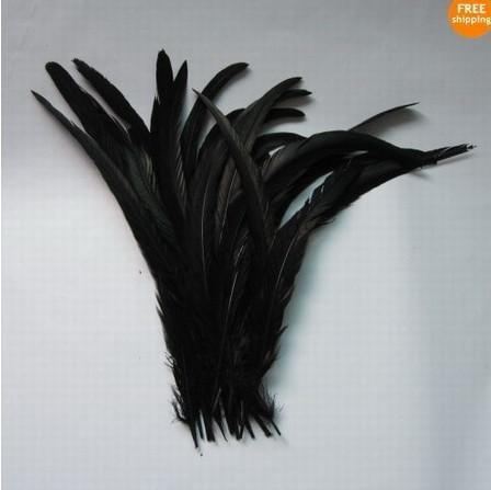 Ingrosso 50 pz nero bel colore 12-14inches/30-35cm coda di gallo per costume e maschera