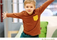 Fashion Children's Clothing New Style Spring Autumn Boys Girls Vivid Candy 6 Colors Long Sleeve Shirts Free Shipping 10pcs/lot