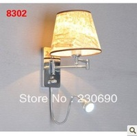 With switch led wall lamp modern brief fashion wall lamp fabric bedside lamp rocker arm wall lamp