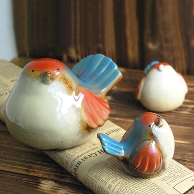 Ceramic birds decoration wedding gift new house china mainland