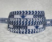 WM ribbon wholesale/OEM 5/8inch 724015 sport Cowboy Printed Folded Over Elastic FOE Webbing 50yds/roll free shipping