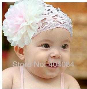 девушки кружева Ободки Украшения для волос малышей с большой цветы ребенка широкие повязки 12pcs/lot