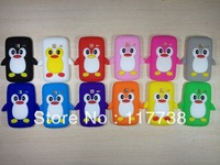 Case for s6102 Cartoon penguin Soft Silicone Case Cover for samsung galaxy s6102