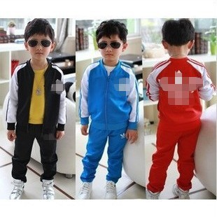 HOT ! 5 set / lot 2013 latest children clothing coat + pants spring autumn fashion boys girls kids suit clothes / Free shipping