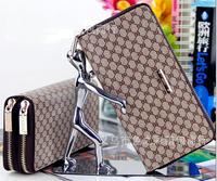 2014 fashion purse women's wallet long design pu leather clutch Casual Zipper wallet 8 pattern free shipping WT0008