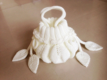 Handmade knitted hook package lucky knot wrist length female circleline coin purse bag hand for