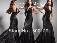 Sexy Exquisite Deep V-neck  Backless Sheath  Floor Length Prom Evening Party Celebrity Dresses