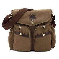 Fashion leisure bag shoulder bag Diagonal package Messenger Bag men/women washed canvas bag