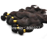 2013 Queen Hair Product Indian Human Hair Weaving Body wave 16inch #4