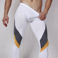 Superbody thin modal low-waist men's legging sexy underpants ankle length trousers male tight-fitting long johns