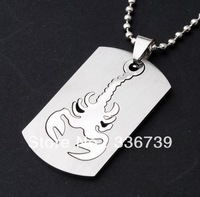 Designer Stainless steel jewelry High Quality 2013, Titanium Steel The Signs of the Zodiac Scorpio Men Pendant Necklace,KY111