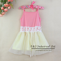 2014 Autumn Girl Lace Formal Dress Pink Sleevesless Infant Girl Santa Dress Wholesale Children's Clothing GD30721-17^^EI