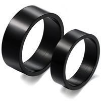 wedding favors for men moissanite brief black glossy titanium lovers ring gj333 20 mm blank lace