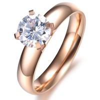 flower 2013 jewelry sparkling rhinestone titanium women's ring gj354 mid finger ring
