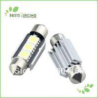 10pcs/lot Free Shipping 36MM 3 SMD 5050 LED Canbus Error Free Car White LED Festoon Dome Inetrior Reading Auto Light Bulb Lamps