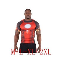 Free shipping Iron Man 3 Short Sleeve tShirt Novelty Iron Men Short Tee Shirt Spider Man Super Man Spiderman Short T-Shirt M-2XL